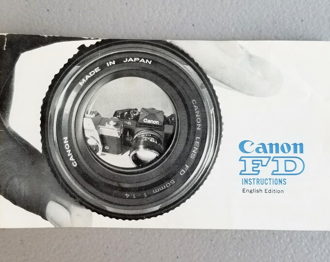 Canon FD Lenses Instructions - All Original, Good Condition - Vintage Collectible - 39 Pages - English Edition for F-1 SLR - 1972