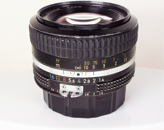 Nikon Nikkor 50mm f/1.4 AI Lens - Nikon F Mount w/ Front & Rear Caps - Lens Made in Japan - SN4099952 - Digitally Adaptable - Nikon Classic!