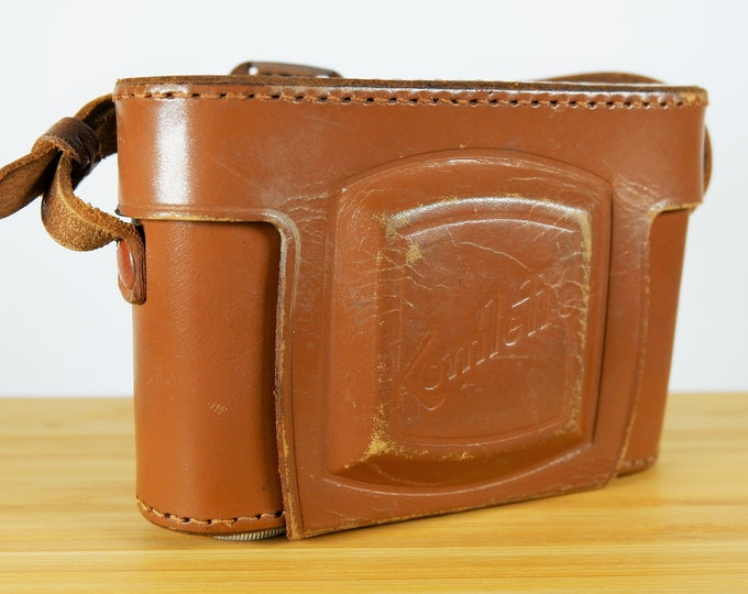 Super Rare Konishiroku (Konica) Konilette Leather Camera Case - for 35mm Camera - Early 1950s Japanese Leather Case - Very Nice