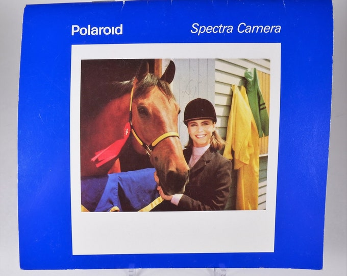 Vintage Polaroid Spectra Instant Film Camera Instruction Book - 28 Pages - Original User's Manual - Excellent Condition