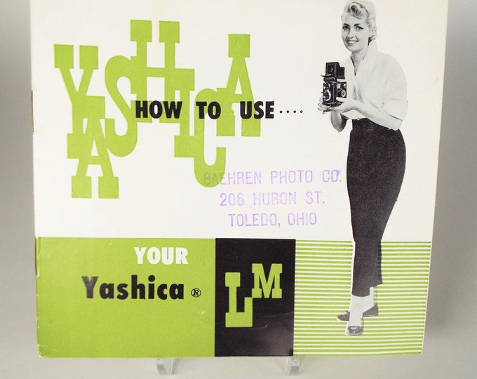 Vintage Original Yashica LM Twin-lens Reflex Camera Instruction Booklet - Owner's Manual - Excellent Condition - Printed in Japan by Yashima