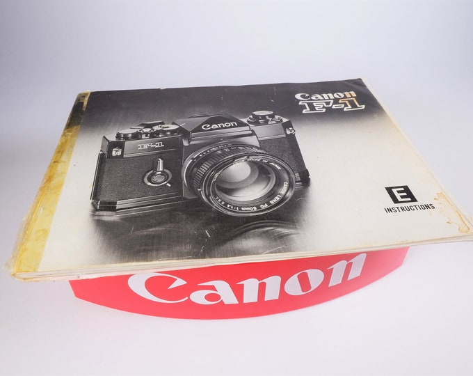 Vintage Canon F-1 35mm SLR Camera Original Instruction Booklet / Owner's Manual / User's Guide - 58 Pages