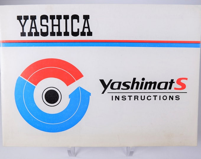 Vintage Yashica Yashimat-S 8mm Movie Camera Instructions - Owner's Manual - 28 Pages - English - Excellent Condition - Super Rare Model