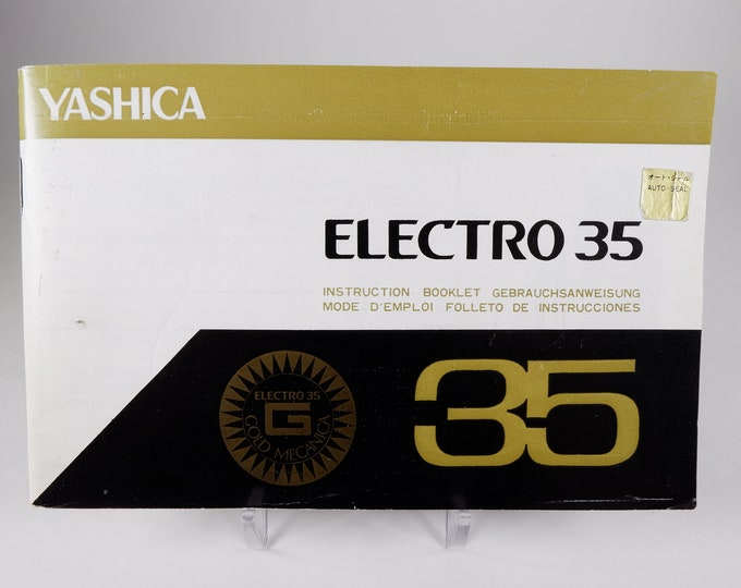 Vintage Yashica Electro 35 & Electro 35 Kit Camera Original Instruction Booklets / Owner's Manual / User's Guides - 43 Pages - Excellent