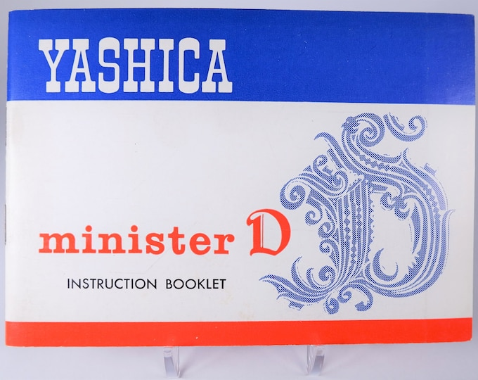 Vintage Yashica Minister D 35mm Camera Instruction Booklet Owner's Manual User's Guide - 26 Pages - Excellent Condition - Rather HTF Model