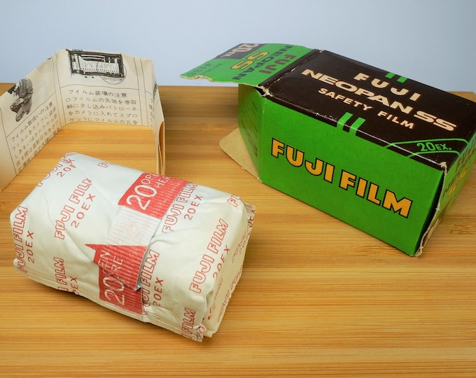 Vintage Fuji Film Neopan SS Black & White 35mm Film - 20 Exposures - Expired 5/1966 - Original Box w/ Sealed Film Can - Free USA Shipping!