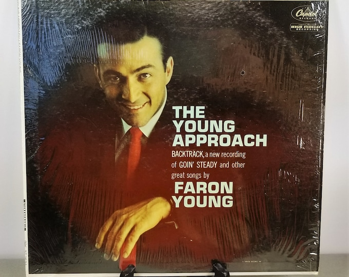 Vintage Vinyl Record Faron Young 'The Young Approach' Stereo LP Album - ST1634 - Genuine Original - Shrink Wrapped Cool Sleeve - Excellent!