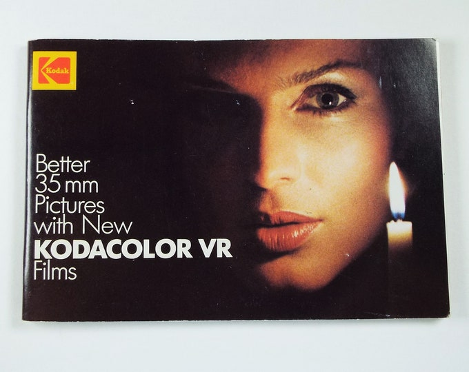 Kodak Kodacolor VR 35mm Films Brochure - Soft Cover - 70 Pages - 35mm SLR Photography - Mint New - 1983 - Free USA Shipping!