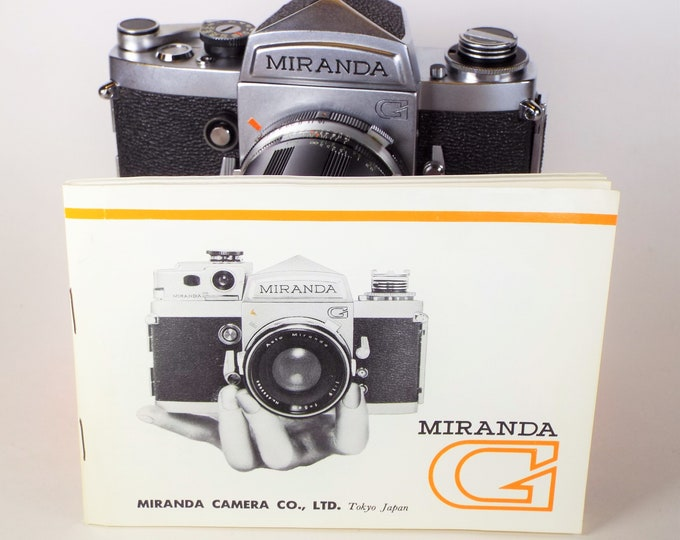Rare Vintage Miranda G 35mm SLR Film Camera with Auto Miranda f/2.8 2.8cm Lens & Cap - Clean, Tested, Works, but needs service - Free Ship!