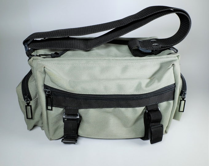 Large Vintage Nylon Camera Bag - Holds Two or More SLR / DSLR Cameras, Lenses, Tripod & Accessories - Excellent Condition - 1980s