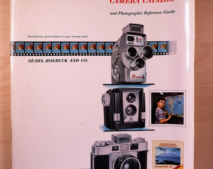 Rare 1959 Sears Camera Catalog & Photographic Reference Guide - Glossy Covers, 87 pages, large 8x11 inch format - Covers hundreds of brands