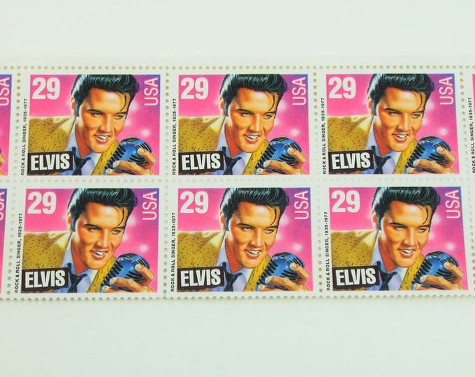 Mint New Elvis Presley US 29 Cent Postage Stamps 10 Total - 1993 Issue - Commemorative Elvis Stamps - Rock n' Roll Music Edition Super Nice
