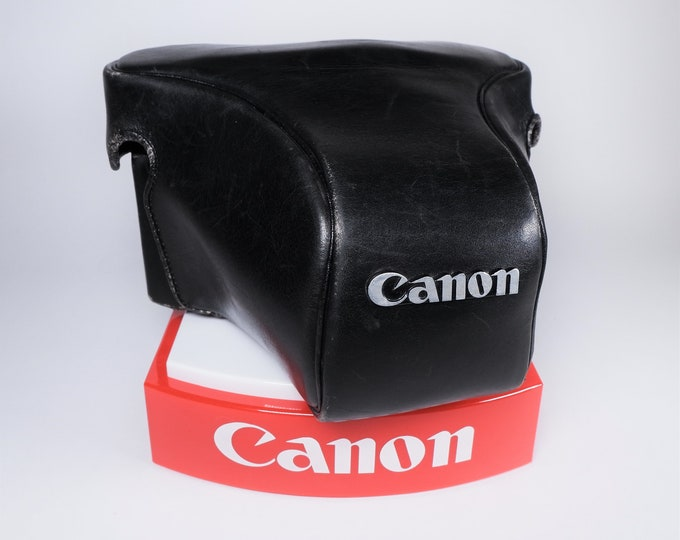 Vintage Canon Leather Camera Case for the Original Canon F-1 - Red Felt Interior - Ever Ready Case - Excellent Condition - Japan
