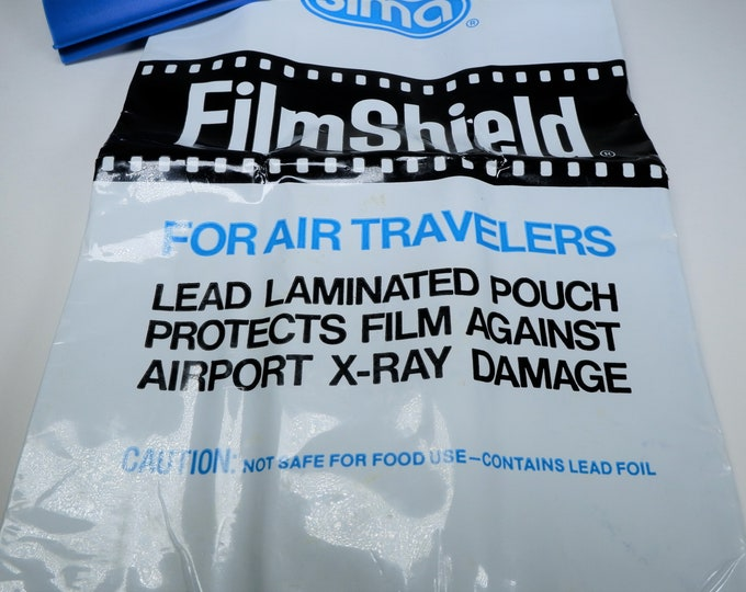 Sima Film Shield Lead Laminated Pouch Protects Film Against Airport X-Ray Damage - Holds 22 Rolls of Film - Never Used - Free USA Shipping!