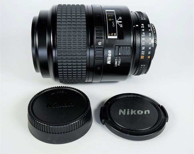 Nikon AF Micro Nikkor 105mm f/ 2.8D Lens - Nikon F Mount - Excellent Condition - 100% Tested - Perfect for Nikon SLR & DSLR - Made in Japan