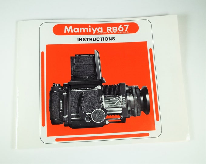 Mamiya RB67 Professional Camera Instruction Book & Accessories Guide - 45 Pages - English Edition - Near Mint Condition - Free USA Shipping!