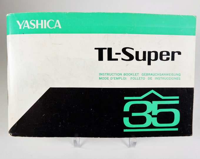 Vintage Yashica TL-Super 35mm SLR Camera Original Instruction Booklet / Owner's Manual / User's Guide - 43 Pages - Excellent Condition