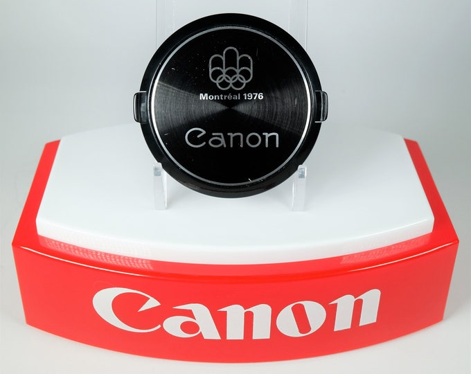 Canon Montreal 1976 Olympics 55mm Front Lens Cap - Works Perfectly, Snap Fit - Hard to Find Classic Canon Accessory - Free USA Shipping!