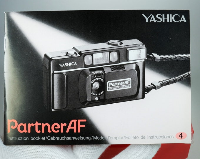 Yashica Partner AF 35mm Camera Instruction Booklet / Owner's Manual / User's Guide - 55 Pages - 4 Languages - Mint New Condition - F/S