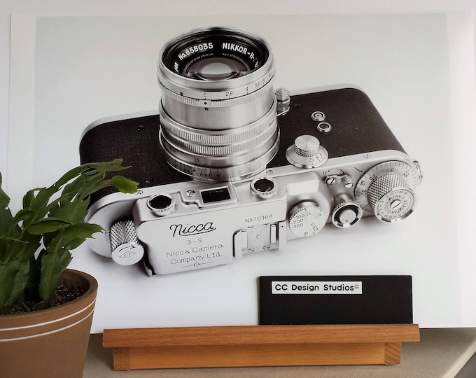 1950s Nicca Film Camera Fine Art Print - 13 x 19 in  - Unframed - Printed on Pro Quality Canon Semi-gloss Paper w/ Archival Inks - Ltd Ed