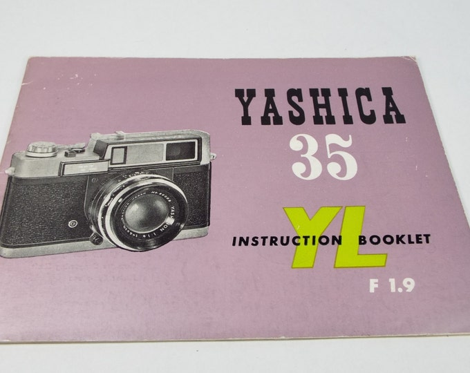Yashica (Nicca) 35 mm YL Rangefinder Camera Owner's Manual - Original & Genuine - 1950s - Exc+ Condition - Rather Rare in this Condition