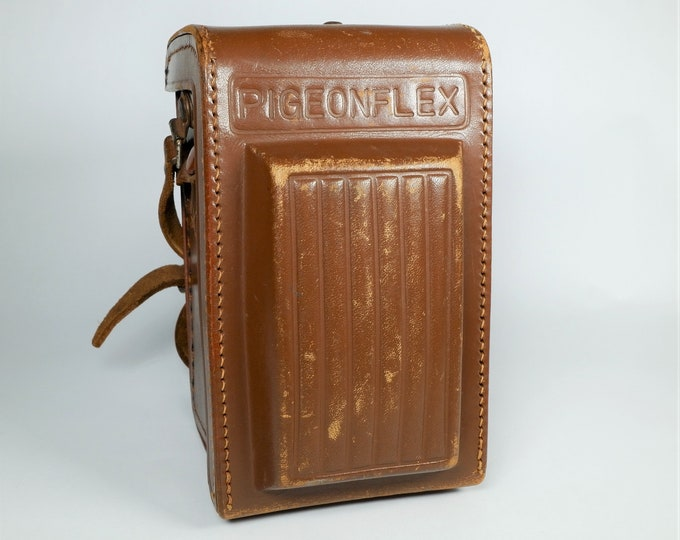 Yashica Pigeonflex TLR Brown Leather Camera Case Vintage 1953 - Excellent Condition - Rather Rare - Free USA Shipping