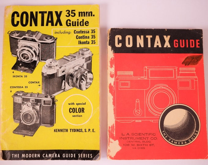 Vintage Contax Camera Guides by Tydings and Emanuel - Includes Contax II, Ikonta, Contessa, Contina and More - 1950s - Reference Books