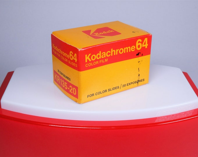 Vintage Kodak Kodachrome 64 Film for Color Slides - 20 Exposures - Expired 12/1977 - Original Unopened Box - Very Nice - Free USA Shipping!