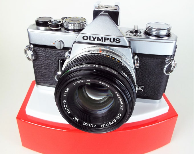 Olympus OM-1n 35mm SLR Film Camera w/ Zuiko MC Auto-S f1.8 50mm Lens