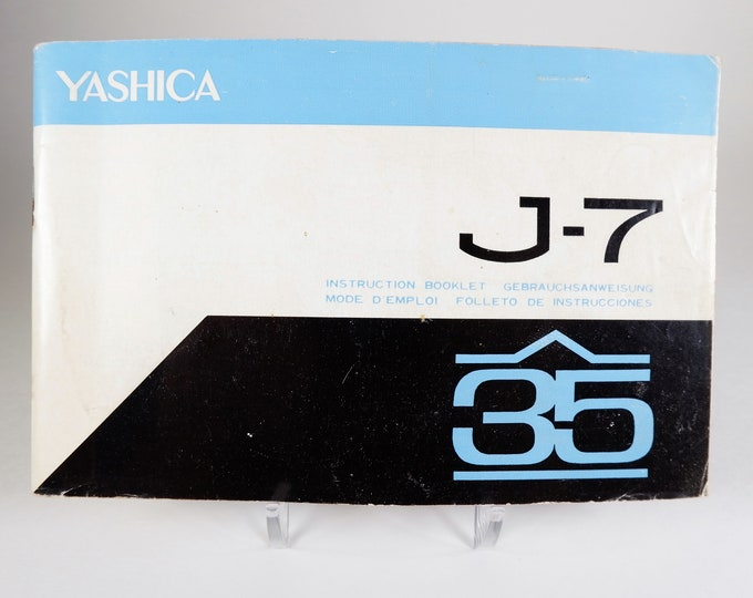 Vintage Yashica J-7 35mm SLR Camera Instruction Booklet / Owner's Manual / User's Guide - 34 Pages - Excellent Condition - Rather HTF Model