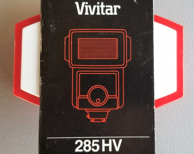 Vivitar 285 HV Electronic Flash Original Instruction Booklet / Owner's Manual / User's Guide - 27 English Pages - E, F, S Ed - 1985