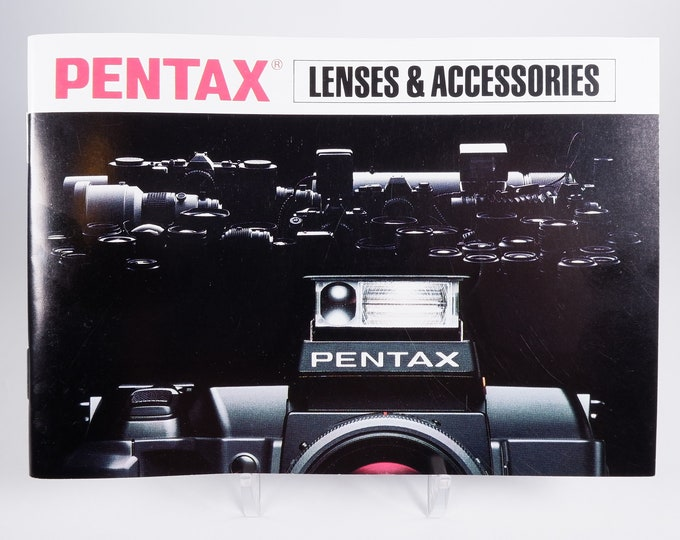 Pentax Lenses & Accessories Brochure Catalog - Soft Cover - 81 Pages - 35mm SLR Photography - Mint New - 1988 - Free USA Shipping!
