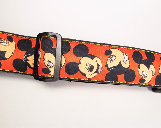 Genuine Disney Mickey Mouse Camera Neck / Shoulder Strap - Bright & Colorful - Adjustable - New w/o Package - Mint - Unused - Great Gift!