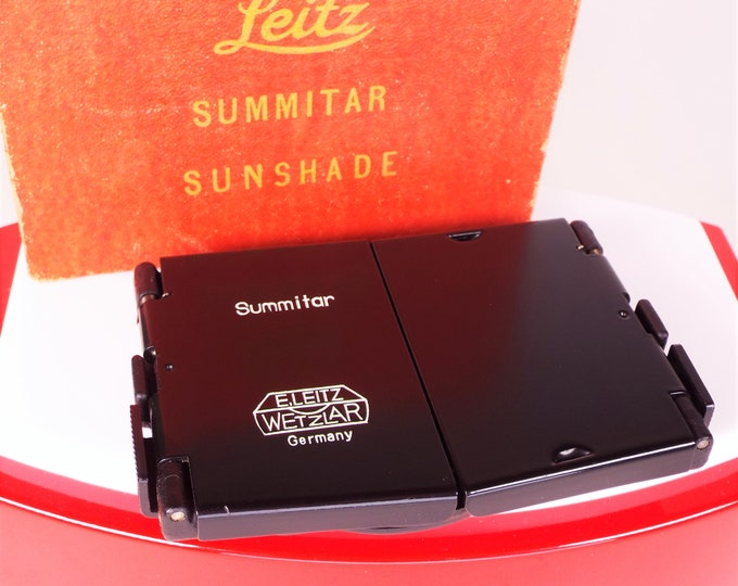 Leica Leitz Summitar Sunshade / Lens Hood in Black with its Original Box - Leica Code SOOPD - Near Mint Condition - Free US Shipping!