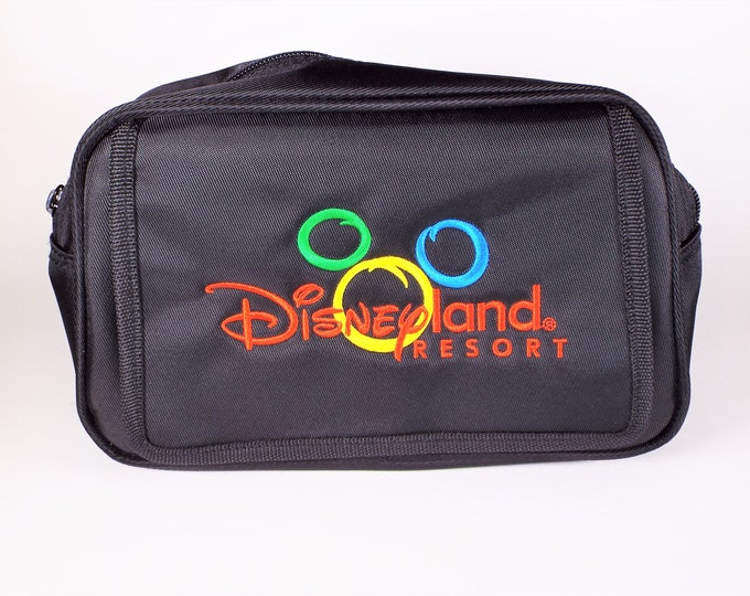 Disneyland Resort Nylon Embroidered Fanny Pack, Bag, Great Digital Camera Bag - HTF Design from the 1990s - Mint, Unused, Free USA Shipping!