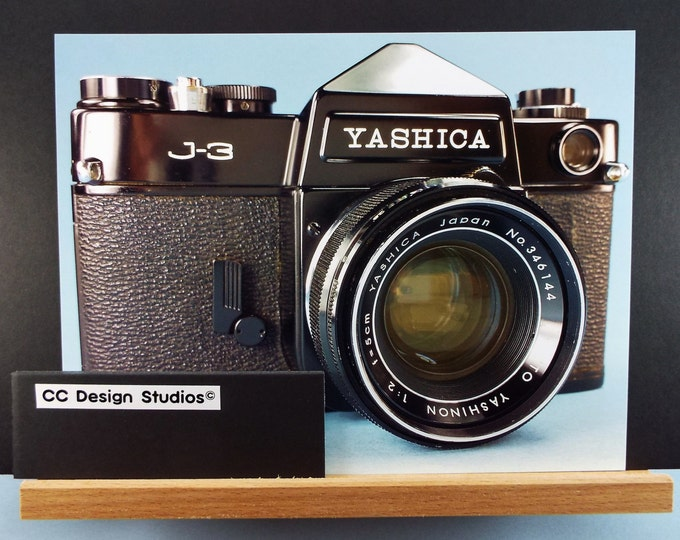 Fine Art Photography - Classic Camera Series / Titled 'Yashica J-3' / Two Photos of a Vintage Film Camera / Full Color 8x10 / Wall Art Decor