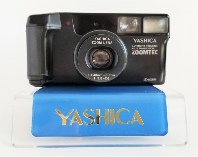 Yashica-Kyocera Zoomtec 35mm AF Compact Film Camera - Super Sharp f3.8 Yashinon 38-80mm Zoom Lens - Fresh Battery, Original Strap - Japan