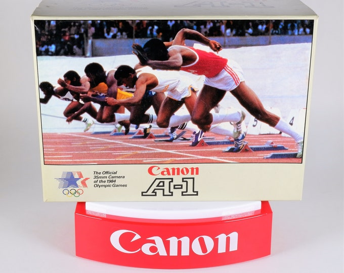 "Rare Canon A-1 ""The Official 35mm Camera of the 1984 LA Olympics"" Original Collectors Box - Near Mint Cond - Complete w/ Inserts & Card"