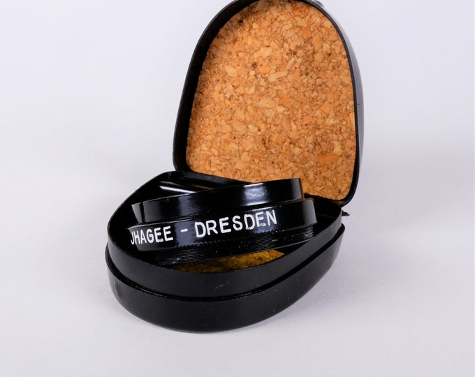 Rare Pre-War Ihagee Dresden Yellow 32mm Metal & Glass Filter - Exakta VP 127 Lenses with Original Case - Collector Quality