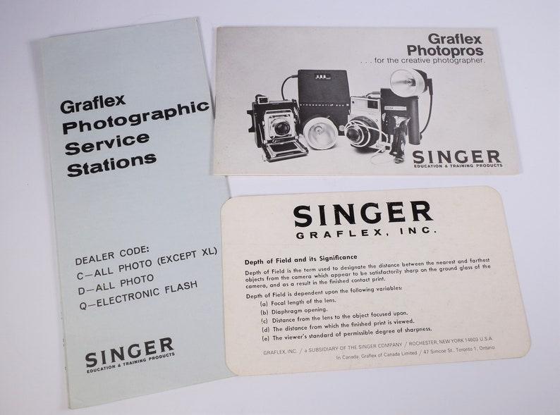 Vintage Graflex Photopros Sales Brochure - Pacemaker, Super Graphic 45,  Century 23, XL Cameras - Original - 18 Pages - Excellent Condition