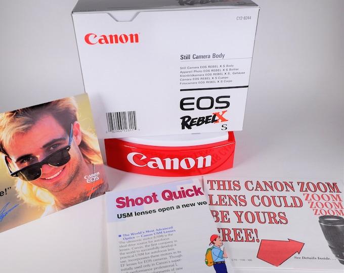 Canon EOS Rebel XS 35mm Film Camera Empty Box - No Camera - Box w/ Inserts, Booklets & EF Lens Guide