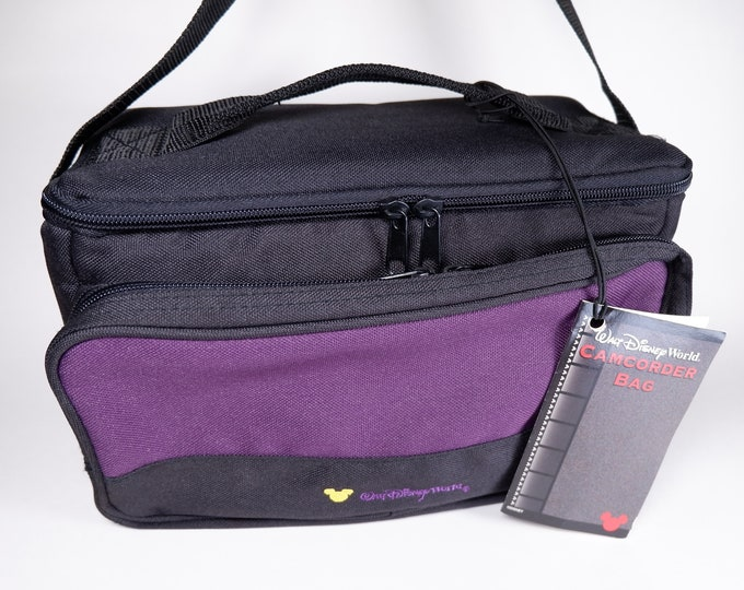 Vintage New with Tags Walt Disney World Mickey Mouse Camera/Camcorder/DSLR Nylon Bag with Shoulder Strap & Carry Handle - Authentic Disney!