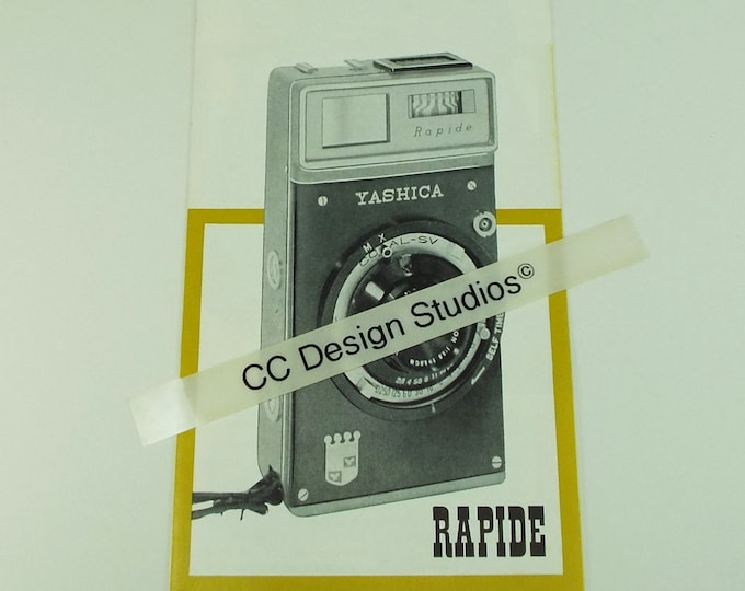 Vintage 1961 Yashica Sales Brochure / Advertising Pamphlet for the Rapide 35 mm Film Camera - Original - Mint Condition - Free Shipping!*
