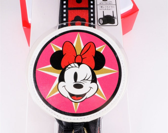 Super Cute and HTF Disney Store Japan Minnie Mouse Camera Strap - Totally Unique Design - Brand New in Package