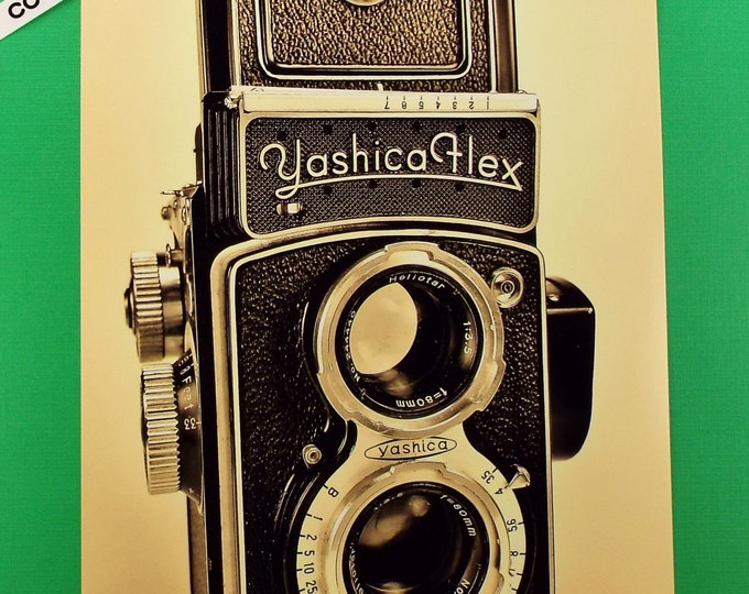 Fine Art Photography - Vintage Camera Series of Classic Cameras No. 1 / Titled 'Yashica Flex 1954' / for Office-Home Wall Art Collection