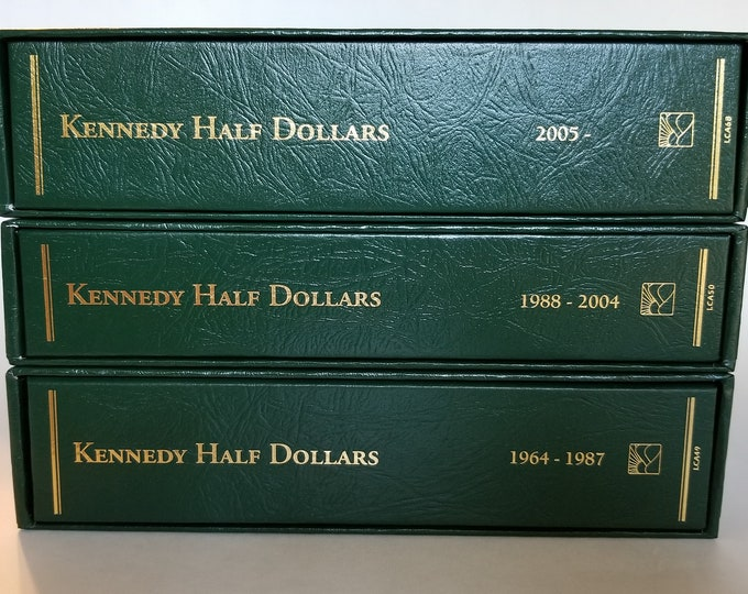 Beautiful Kennedy Half Dollar Collection from 1964 to 2018 in three Littleton Archive Albums - US Mint Uncirculated and Proof Coins