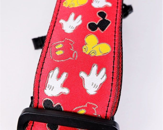 Genuine Disney Mickey Mouse Camera Neck / Shoulder Strap - Bright & Colorful - Adjustable - New with Package - Mint - Unused - Great Gift!