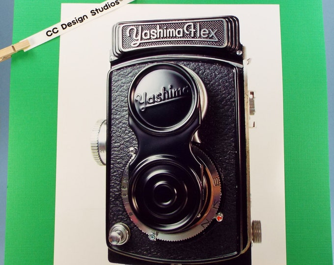 Fine Art Photography - Vintage Camera Series of Classic Cameras No. 2 / Titled 'Yashima Flex 1954' / for Office-Home Wall Art Collection
