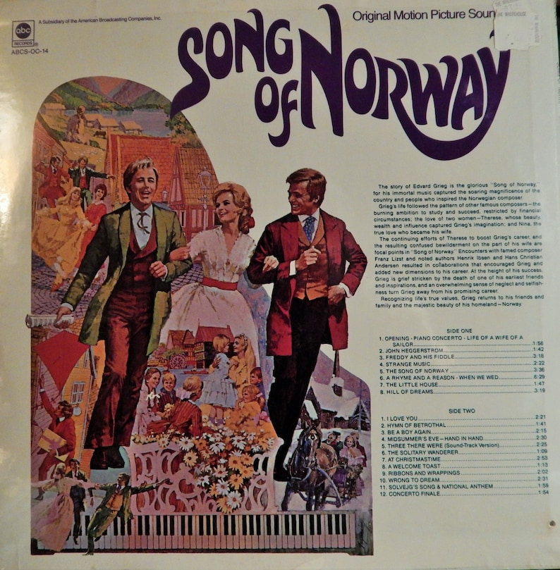 Song Of Norway (1971 music Edvard Grieg) Mint 12