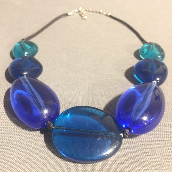 Beautiful vintage wedding party sparkly  retro chunky bead retro  necklace jewellery jewelry